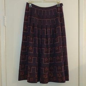 Vintage Lanvin Wool Pleated Skirt Size 2